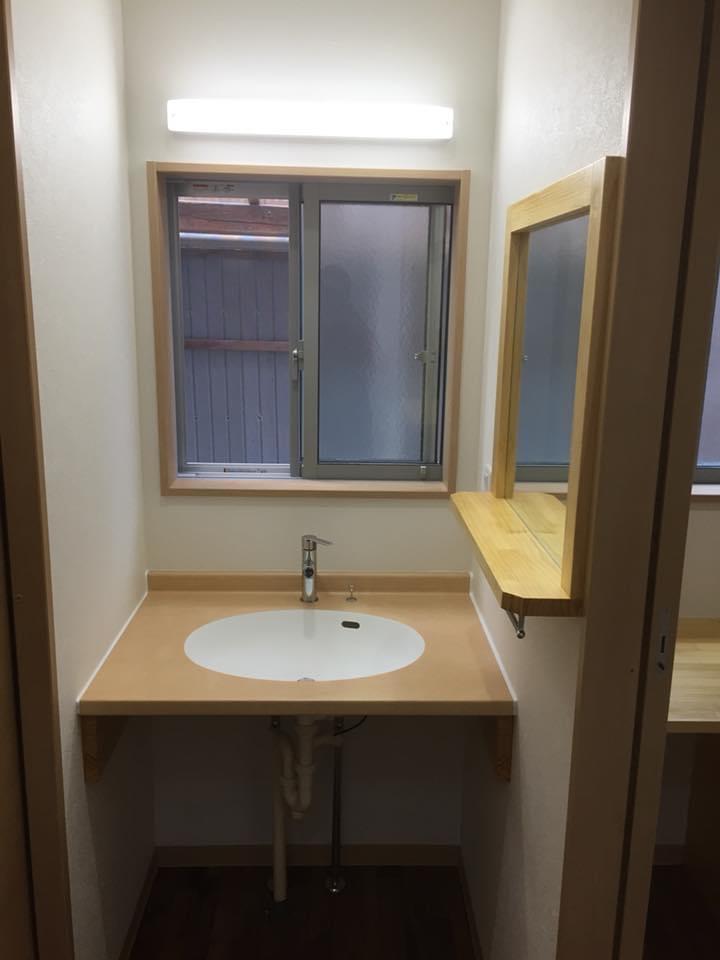 鳥取県境港市 洗面トイレのバリアフリー改修 2018.8